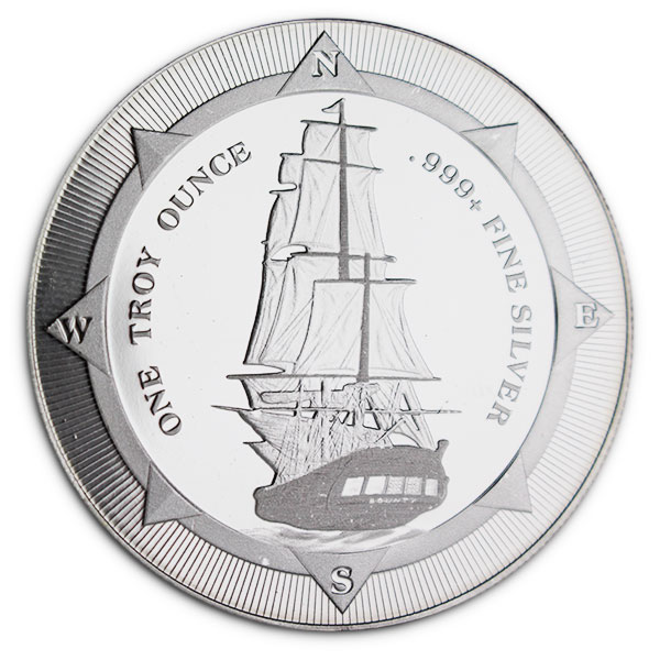 New Zealand Mint's HMS Bounty - 1 Oz .999 Silver Coin thumbnail
