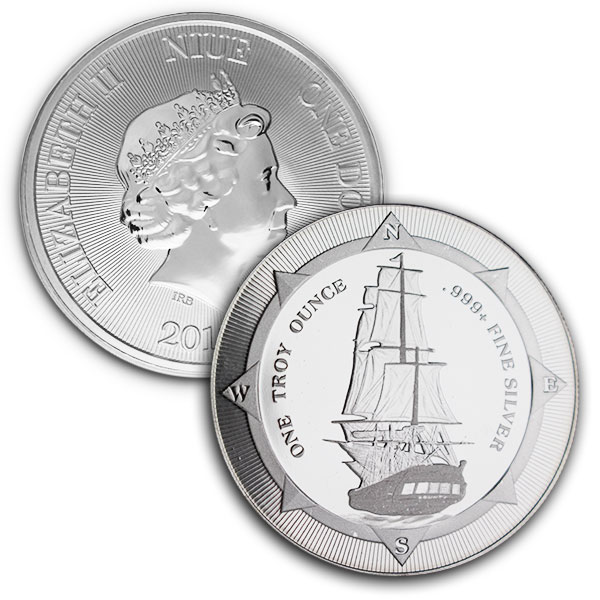 Buy the Original New Zealand HMS Bounty: 1 Oz Silver Coin
