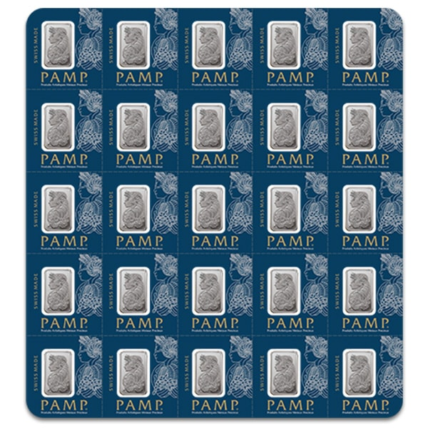 Multigram+25 Platinum - Qty 25 1 Gram Platinum Bars