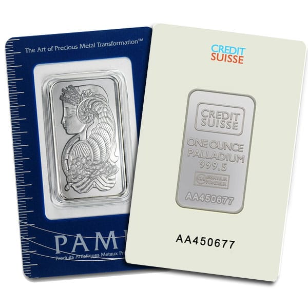 1 Oz Palladium Bars