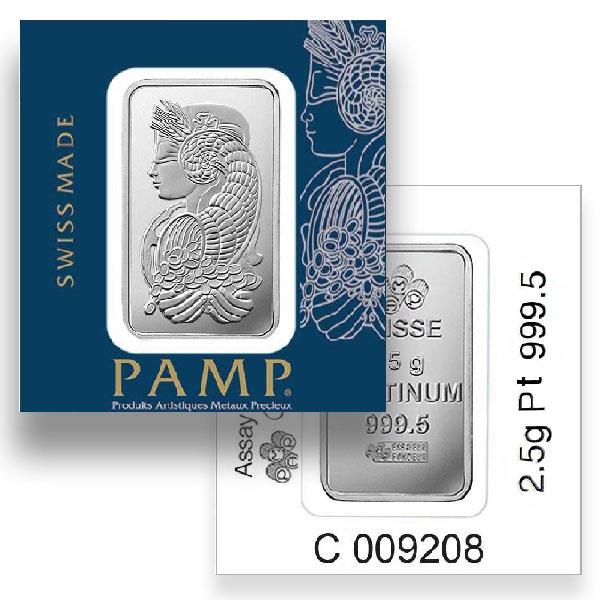 Platinum Bar, 2.5 Gram, .9995 Pure thumbnail