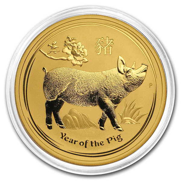 Perth Mint Lunar Series - 2019 Year of the Pig, 1 Oz .9999 Gold thumbnail