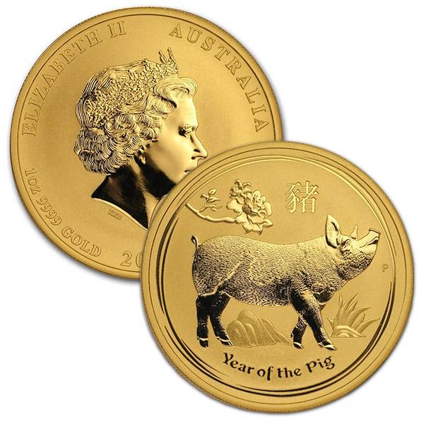 Perth Mint Lunar Series - 2019 Year of the Pig, 1 Oz .9999 Gold thumbnail