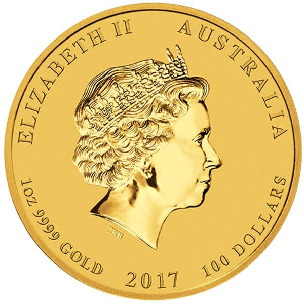 Perth Mint Lunar Series - 2017 Year of the Rooster, 1 Oz .9999 Gold thumbnail