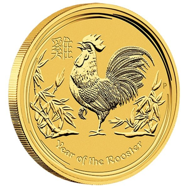 Perth Mint Lunar Series - 2017 Year of the Rooster, 1 Oz .9999 Gold