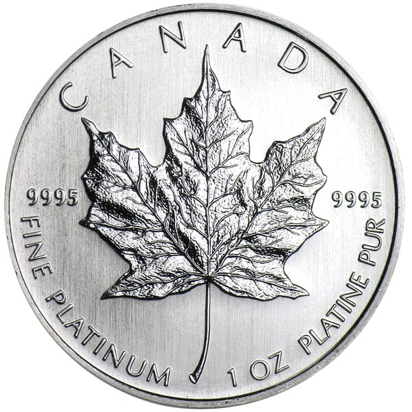 1 Oz Canadian Platinum Maple Leaf Coins thumbnail