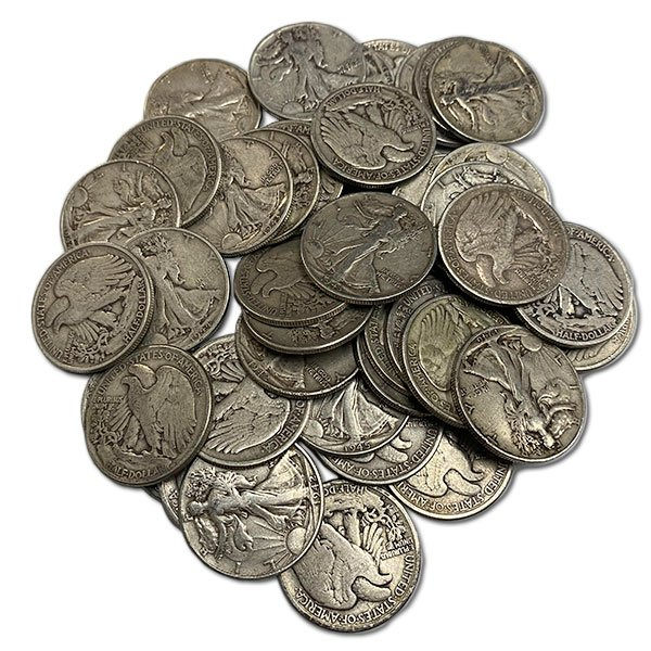 Pre-1965 WALKING LIBERTY HALF DOLLARS - 90% Silver (.715 Oz of Silver for Every $1 Face Value) thumbnail