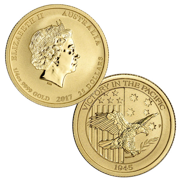 1/4 Ounce Perth Mint Gold Australian Coin, .9999 Pure