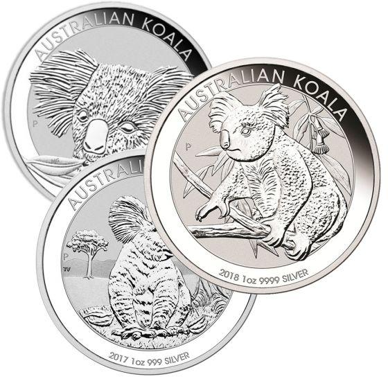 Koala - Perth Mint 1 Oz .999 Silver, RANDOM Date
