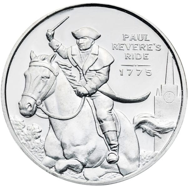 Paul Revere Half Oz Silver Rounds