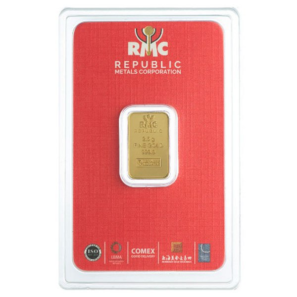 2.5 Gram Gold Bars, .9999 Pure thumbnail