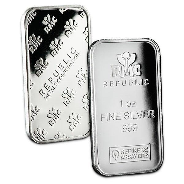 1 Ounce Silver Bars thumbnail