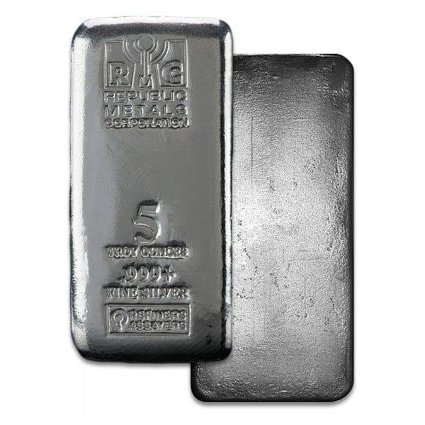 5 Oz Silver Bars (Design Our Choice) thumbnail