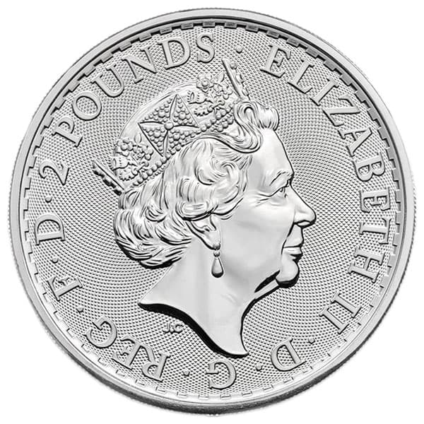 British Silver Britannia Coin - 1 Troy Oz, .999 Pure thumbnail