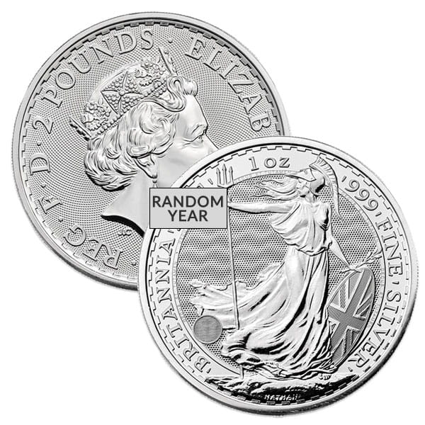 British Britannia - 1 Troy Oz, .999 Pure thumbnail