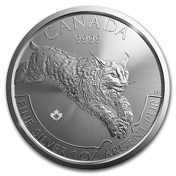 Canadian Predator Series - 2017 LYNX, 1 Troy Oz, .9999 Silver