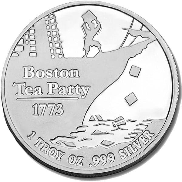 Dont Tread On Me Tea Party 1 Oz Silver Rounds Thumbnail