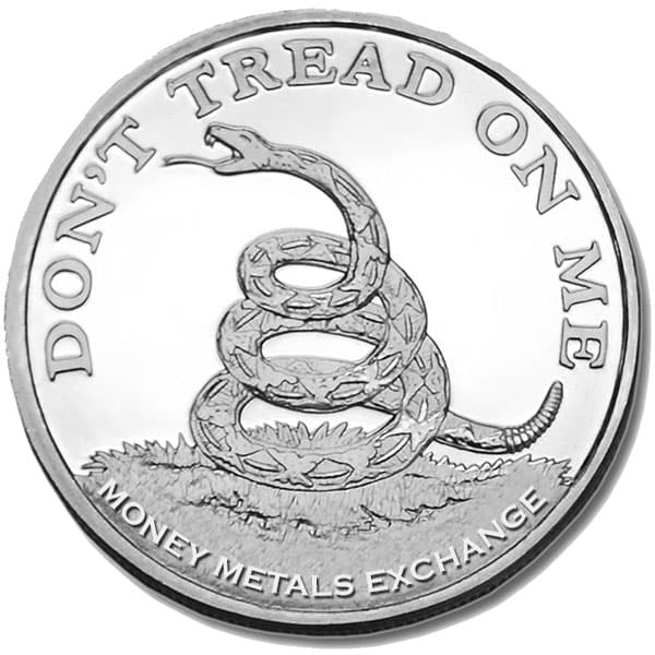 Don't Tread On Me / Tea Party 1 Oz Silver Rounds thumbnail