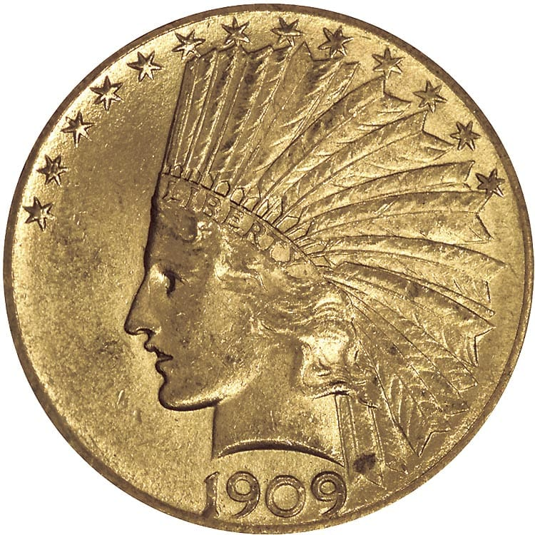 $10 Indian Head (1907-1933), 0.4838 Troy Ounce Gold Content thumbnail