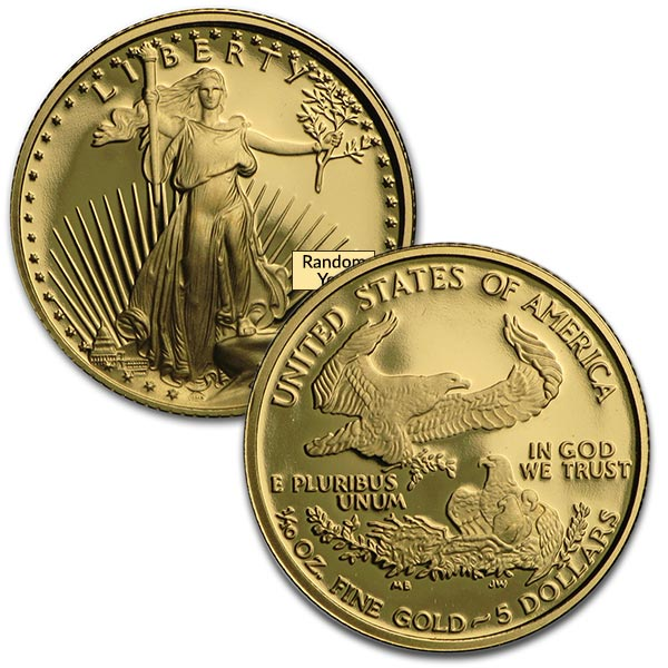 1/10 oz Proof Gold Eagle Coins thumbnail