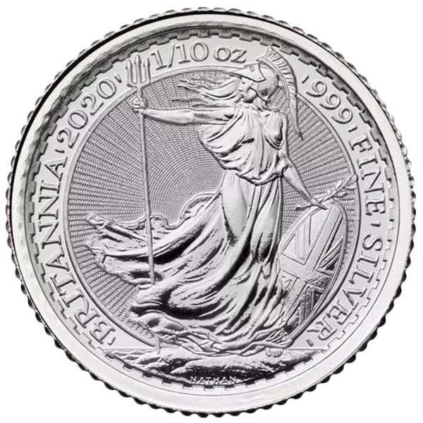 1/10 Troy Ounce British Britannia - .999 Pure Silver
