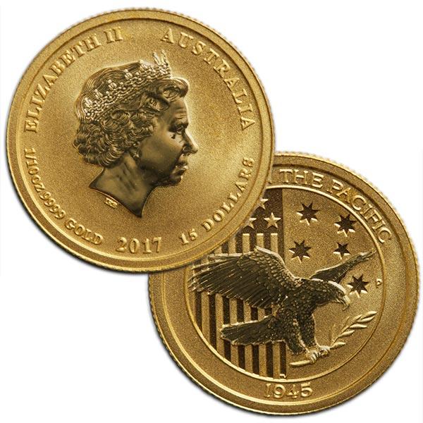 1/10 Ounce Perth Mint Gold Australian Coin, .9999 Pure