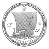 Isle of Man Platinum Noble - 1/10th Oz Coin .9995 Pure