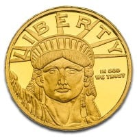 1/10 Oz Lady Liberty Gold Rounds