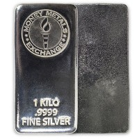 Silver Bar - 1 Kilo (32.151 troy ozs), .999 Pure