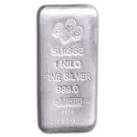 PAMP Suisse 1 Kilo Bar, .999 Pure Silver