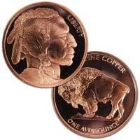 1 oz Copper Buffalo Rounds