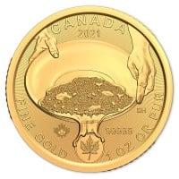 Klondike Gold Rush Series - Panning for Gold, 1 Oz .99999 Fine in Assay