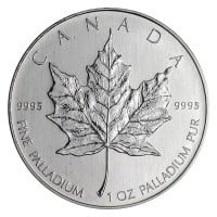 1 Oz Canadian Palladium Maple Leaf Coins