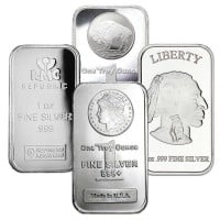 1 Oz Silver Bars (Design Our Choice)