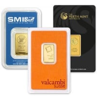 5 Gram Gold Bars, .9999 Pure
