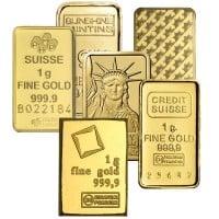 Gold Bar, 1 Gram .9999 Pure - NO Assay Package