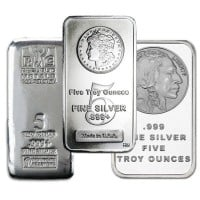 5 Oz Silver Bars (Design Our Choice)