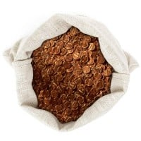 95% Copper pennies (Price Per Pound)