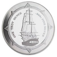 New Zealand Mint's HMS Bounty - 1 Oz .999 Silver Coin