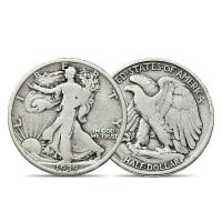 Pre-1965 WALKING LIBERTY HALF DOLLARS - 90% Silver (.715 Oz of Silver for Every $1 Face Value)