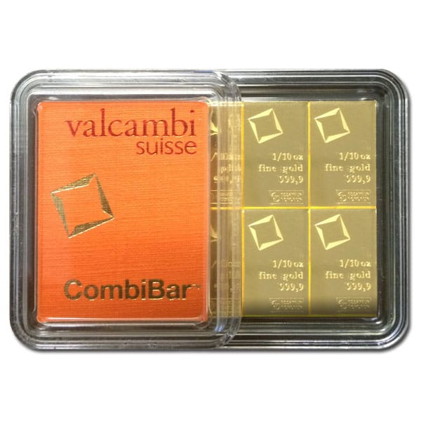 Valcambi CombiBar - 1 Oz Gold Bars thumbnail