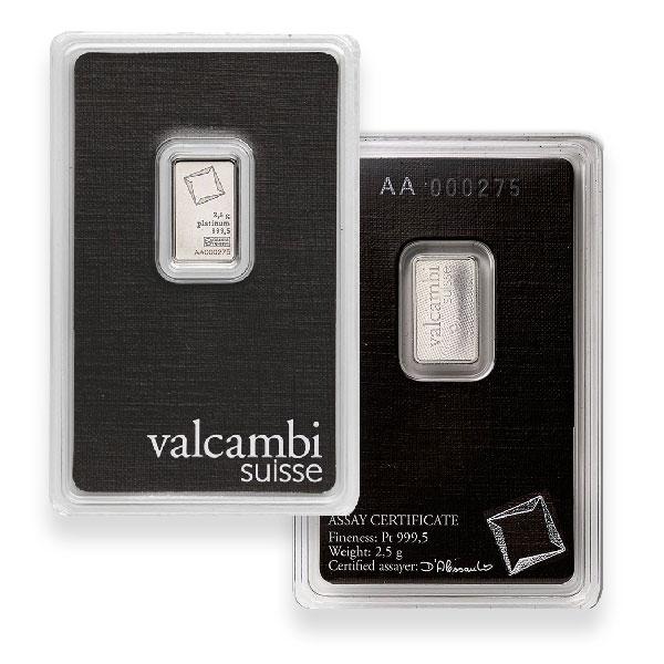 Platinum Bar, 2.5 Gram, .9995 Pure