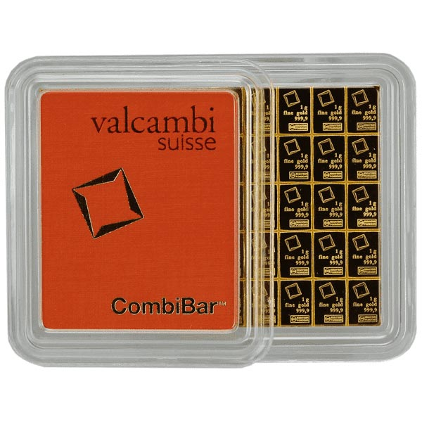 Valcambi CombiBar - 50 Gram Gold Bars