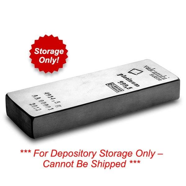Vault Platinum - 1/10 Troy Oz of .999 Platinum, Securely Stored