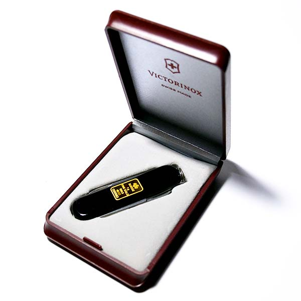 Victorinox Knife & PAMP Gold Inlay - 1 gram .9999 thumbnail