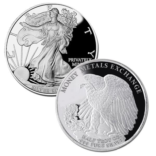 Walking Liberty Half Oz Silver Rounds thumbnail