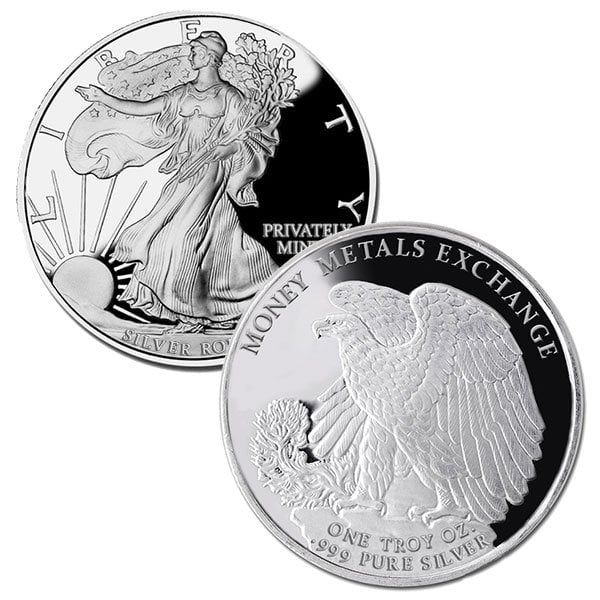 Walking Liberty 1 Oz Silver Rounds thumbnail