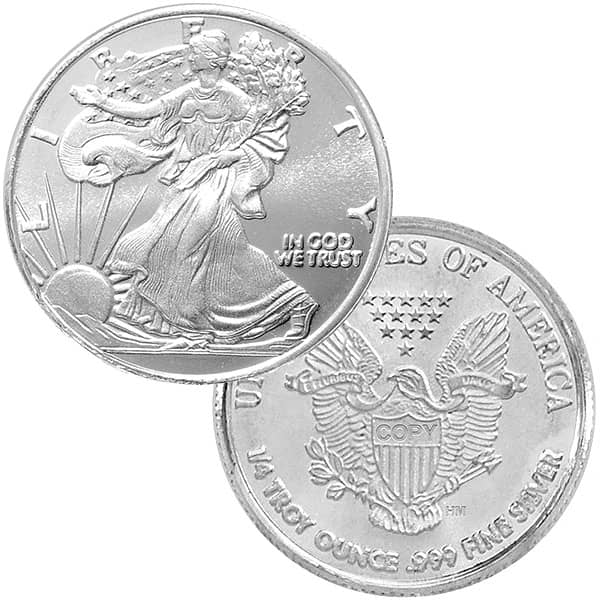 1/4 oz Walking Liberty Silver Rounds thumbnail