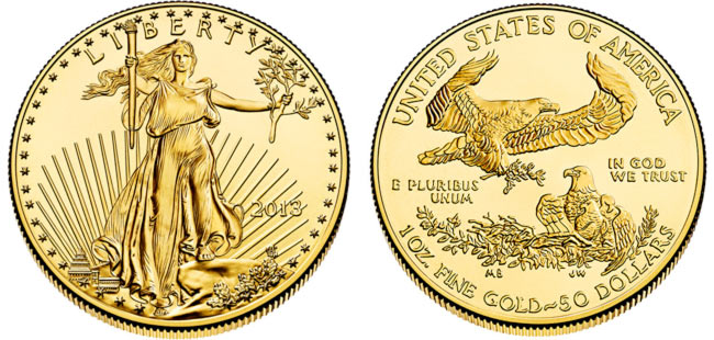 Gold American Eagle Coin - 1 oz