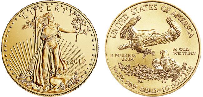 Gold American Eagle Coin - 1/4 oz